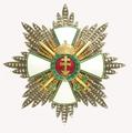 Magyar Érdemrend Szent Koronával ékesített nagykeresztjének csillaga hadidíszítménnyel és kardokkal.png