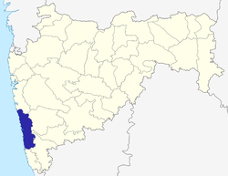 Location of Ratnagiri district in Maharashtra