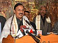 Mahesh Sharma addressing at the inauguration of the photographic exhibition Glorious Ajanta on the beautiful paintings and digital restoration of Ajanta Caves, in New Delhi.jpg