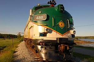 Maine Eastern Railroad - Maine Eastern 488, ex-Amtrak 239 and 488, and New Haven 2016
