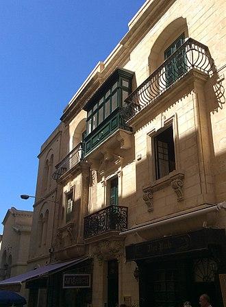 Malta Postal Museum - Façade of the building housing the Malta Postal Museum