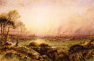 Art Treasures Exhibition, Manchester 1857 - William Wyld's view of Manchester from Higher Broughton, 1852