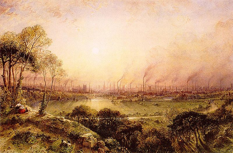 Manchester from Kersal Moor William Wylde (1857).jpg