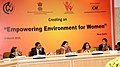 Maneka Sanjay Gandhi addressing at the National Commission of Women on Women Empowerment, in New Delhi on March 08, 2015. The NCW, Chairperson, Smt. Lalitha Kumaramangalam is also seen.jpg