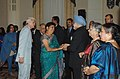 Manmohan Singh with his wife Smt. Gursharan Kaur attends a reception hosted by the Ambassador of India to the United States of America, Shri Ronen Sen for Indian Community, in New York on September 27, 2008.jpg