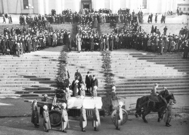 Похороны Густава Маннергейма. Траурный парад в Хельсинки