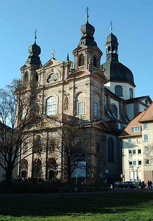 Peter Anton von Verschaffelt - Image: Mannheim jesuitenkirche