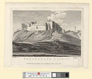 Manorbier Castle - Image: Mannorbeer Castle April 1st 1778