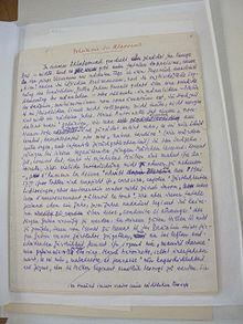 Die erste Seite des Manuskripts zu Marie Antoinette. Bildnis eines mittleren Charakters. (Quelle: Wikimedia)