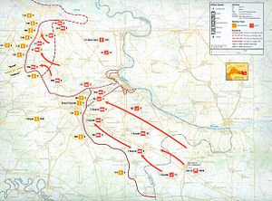 Vukovar massacre - Map of military operations in eastern Slavonia, September 1991 – January 1992.