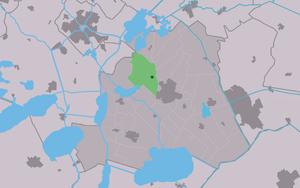 Broek, Friesland - Image: Map NL Skarsterlân De Broek