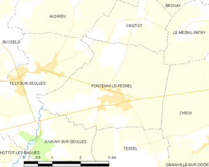 Operation Martlet - Image: Map commune FR insee code 14278