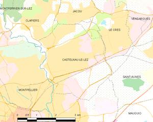 Castelnau-le-Lez - Map
