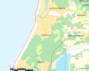 Map commune FR insee code 40065.png