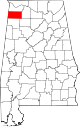 Map of Alabama highlighting Franklin County.svg