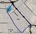 Map of Arleta neighborhood, Los Angeles, California.jpg