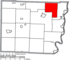 Location of Colerain Township in Belmont County
