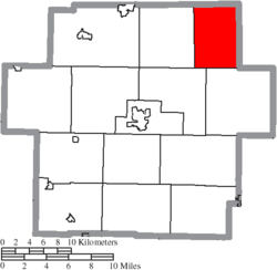 Location of East Township in Carroll County