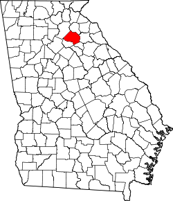 map of Georgia highlighting Jackson County