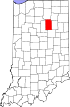 State map highlighting Wabash County