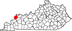 State map highlighting Union County