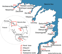 The Northern Fleet Showing Major Bases And Headquarters