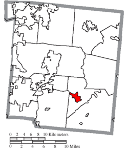 Location of Morrow in Warren County