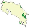 Mapa de distribución del chancho de monte en Costa Rica.PNG