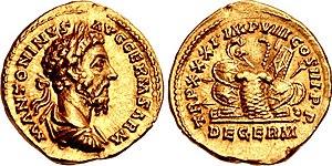 Aureus de Marcus Aurelius.