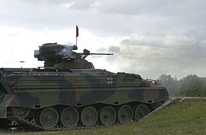 Marder (IFV) - A Marder 1 A3 fires its 20 mm cannon in an exercise.