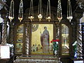 Maria Gatchinskaya icon and relics shrine.JPG