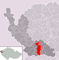 Mariánské Lázně na mapě