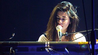 "The Family Jewels (Marina and the Diamonds album) - Diamandis performing ""Obsessions"" in May 2010 at Edinburgh's Assembly Rooms, during The Family Jewels Tour"