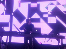 Mark Bell at an LFO performance in Moscow, 2013