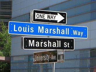 Louis Marshall - Marshall Street, Syracuse, New York