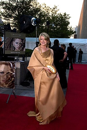 Martha Stewart - Stewart at the Metropolitan Opera opening (2008)