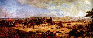 Battle of Ayacucho - The  Battle of Ayacucho, by Antonio Herrera Toro from studies by Martín Tovar y Tovar