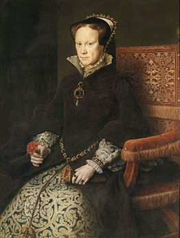 Queen Mary I of Englandpainted in 1554 by Antonius MorMuseum of Prado, Madrid