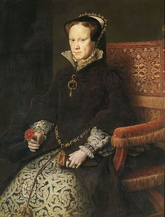 La Peregrina pearl - Antonis Mor (after), Mary I of England wearing a pendant with La Peregrina (1554)
