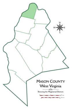 Location of Waggener District in Mason County