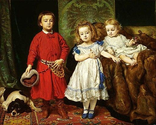 Matejko Portrait of artist's children