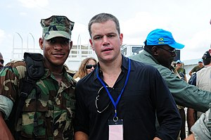 Matt Damon filmography - Damon volunteering in Haiti in 2009, which was featured in the television documentary Years of Living Dangerously (2014)
