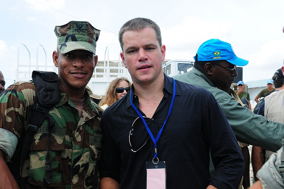 Matt Damon in Haiti 2009
