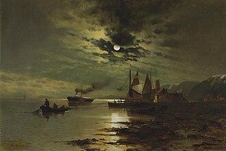 Mauritz de Haas - Image: Mauritz de Haas Hudson under the Moonlight
