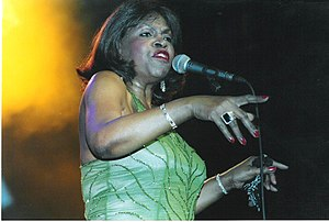Maxine Brown (soul singer) - Brown performing in Colne, England 2005  Photo: Phil Wight