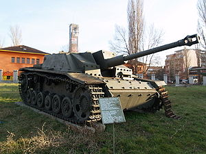 Maybach - Captured Sturmgeschütz III assault gun, derived from the Panzer III medium tank, also made by Maybach, at the Bulgarian National Museum of Military History