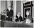 Mayor John F. Collins with Supreme Court Justice Arthur Goldberg (center) and unidentified man (10158752295).jpg
