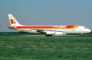 IAG Cargo - Former Iberia Cargo DC-8-62 at the 90's