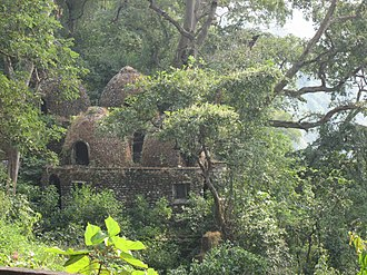 The Beatles in India - Meditation caves of the former Academy of Meditation in Rishikesh in 2006