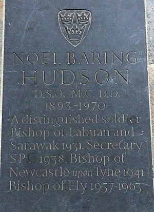 Noel Hudson - Memorial to Bishop Noel Baring Hudson in Ely Cathedral
